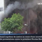 Venezuela: des manifestants incendient un bâtiment officiel