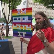 Manifestation pour les droits homosexuels à Séoul