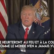 Donald Trump menace la Corée du Nord de répondre avec fureur