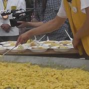 Malgré la crise des oeufs contaminés, la Belgique se régale d'une omelette géante