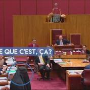 Une sénatrice australienne entre au Sénat...vêtue d'une burqa