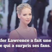 Jennifer Lawrence annonce une pause de 2 ans dans sa carrière d'actrice