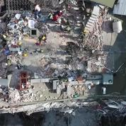 Les dégâts du séisme de Mexico vus du ciel