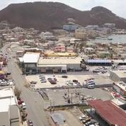 Les paysages de désolation de l'île de Saint-Martin vus d'un drone