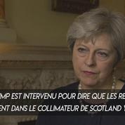 Attentat du métro de Londres : Theresa May réagit aux accusations de Donald Trump