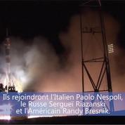 Trois spationautes rejoignent l'ISS