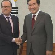 François Hollande rencontre le premier ministre sud-coréen