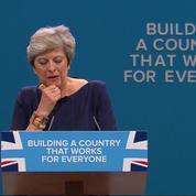 Le discours de Theresa May tourne à la catastrophe