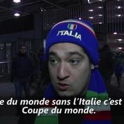 Football: les Italiens sous le choc après leur élimination de Mondial 2018