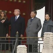 Trump et Xi Jinping en visite à la cité interdite