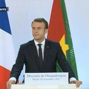 Macron à Ouagadougou : «Il y a eu des combats, des fautes et des crimes»