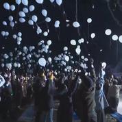 Des ballons dans le ciel pour fêter le Nouvel An au Japon