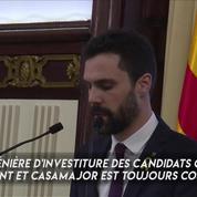 Manifestation à Barcelone en soutien à l'investiture de Carles Puigdemont
