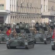Défilé militaire et exhibition de missiles à Pyongyang avant les JO