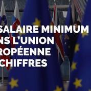 Le salaire minimum dans l'union européennes en chiffres