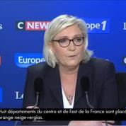 Marine Le Pen juge «insupportable»et «inadmissible»de toucher à la loi de 1905