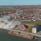Au Danemark, la démolition d'un silo ne se passe pas comme prévu