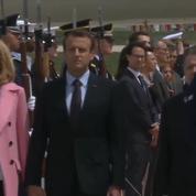 L'arrivée en grande pompe d'Emmanuel Macron aux États-Unis