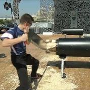 Marseille accueille un concours de bûcherons
