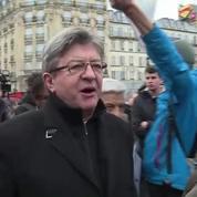 Jean-Luc Mélenchon vise et tire contre Emmanuel Macron