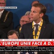 Prix Charlemagne : «Ne soyons pas faibles» déclare Emmanuel Macron