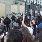 «La Fête à Macron» : les manifestants dansent devant les policiers