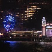 Sons et lumière au port de Sydney lors d'un festival