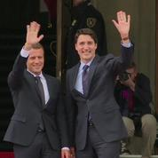 Justin Trudeau reçoit Emmanuel Macron à Ottawa