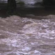 Violents orages : les rues d'une commune de Normandie inondées