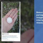Grêlons géants, arbres renversés : les orages s'affichent sur les réseaux sociaux