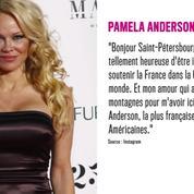 Les Bleus champions du monde : Pamela Anderson fière aux côtés d'Adil Rami