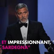 George Clooney blessé dans un accident de scooter en Italie