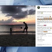 Antoine Griezmann papa : le champion du monde ironise sur son coach avec sa petite Mia
