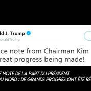 Donald Trump dit avoir reçu «une très belle» lettre de Kim Jong-un