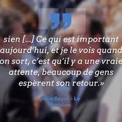 Pour Julie Gayet, «beaucoup de gens espèrent» le retour de François Hollande