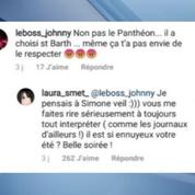 Laura Smet attaquée par un fan de Johnny Hallyday, Benjamin Biolay prend sa défense