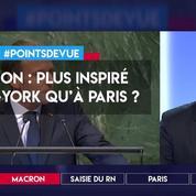 Macron plus inspiré à New York qu'à Paris ?