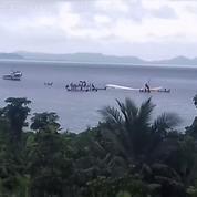 Un avion plonge dans un lagon : les images impressionnantes après l'accident