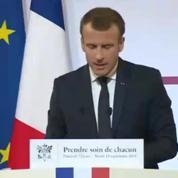 Macron «Nous devons nous attaquer à la question de la qualité des soins»