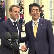 Macron et Abe veulent agir de concert aux G7 et G20