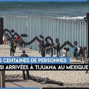 Des migrants d'Amérique centrale commencent à arriver à la frontière américaine