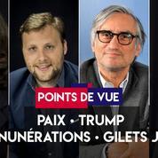 Points de vue du 12 novembre : paix, Trump, rémunérations, gilets jaunes