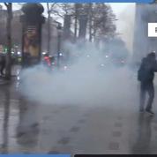 «Gilets jaunes» : Dispersion des manifestants sur les Champs-Élysées