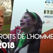 Droit des femmes, conflits armés, liberté d'expression… 2018 en demi-teinte pour les droits de l'Homme