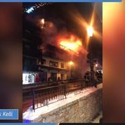 Courchevel: les images de l'incendie
