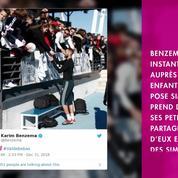 Non Stop People - Karim Benzema : Rare et adorable cliché avec ses deux enfants