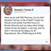 La réponse de Donald Trump à la tribune de Mitt Romney