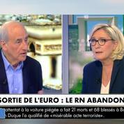 Marine Le Pen : « Nous ne réclamons plus la sortie de l'euro »