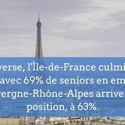 Hauts-de-France, Aquitaine, Île-de-France: l'emploi des seniors par région