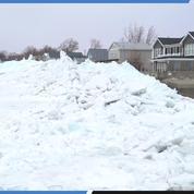 Un spectaculaire «tsunami de glace» s'abat entre les Etats-Unis et le Canada